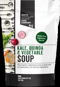 Kale Quinoa and Vegetable soup