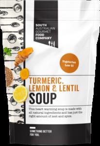 Turmeric lemon and lentil soup