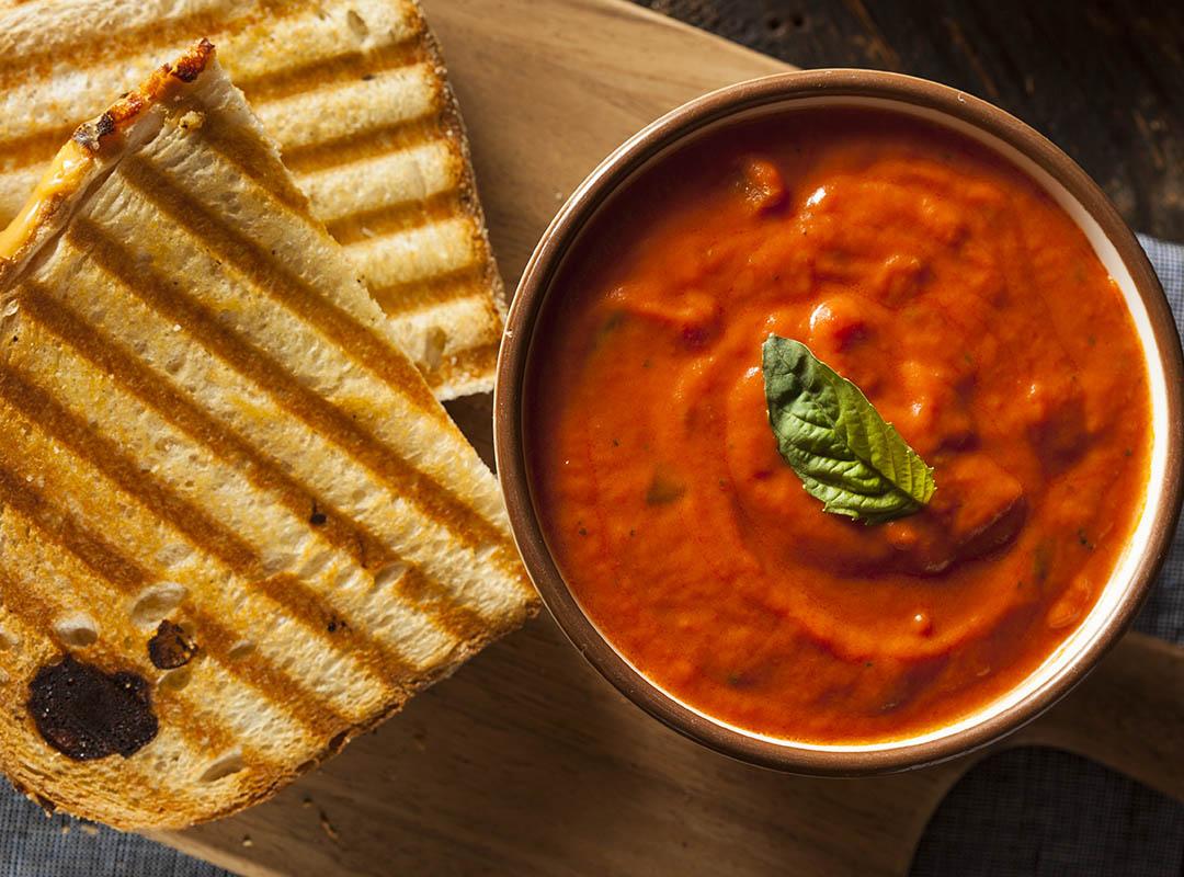 Four Cheese Toastie with Tomato Soup