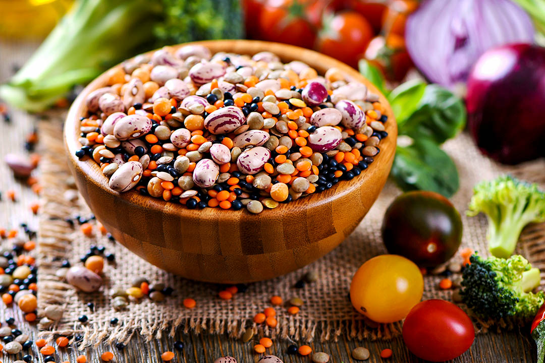 Picture of Uncooked Legumes Lentils and Beans