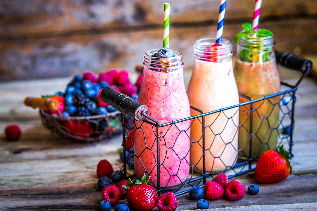 Picture of 3 fruit smoothies